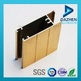 Profil en aluminium de l'extrusion 6063 T5 de bâti de guichet et de tissu pour rideaux de porte