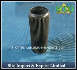 Filtre plissé par S. du filtre S. de cylindre de treillis métallique d'acier inoxydable