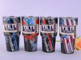 De Amerikaanse Tuimelschakelaar van de Yeti van de Vlag vormt de Punisher Wandelaar van de Yeti van de Schedel van de Sluipschutter 30oz tot een kom