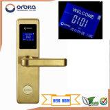 Fechamento de porta Keyless do hotel de Digitas da alta segurança com tecnologia de cifragem no fechamento e no cartão