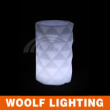 Colorer le bac de fleur changeable d'éclairage LED extérieur