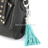 Moda Casual PU couro Tassels Mulheres Keychain Bag Pendant Alloy Car Key Chain Anel Suporte Retro Jewelry