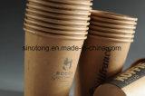 De hittebestendige Beschikbare Koppen van het Document van Kraftpapier van de Koffie 12oz