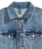 Cotton&Polyesterの極度の伸張のデニムレディースジャケット