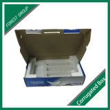 Caixa de papel ondulado de alta qualidade para computador com almofada interior em espuma