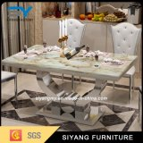 Meuble en verre en métal Table moderne en acier inoxydable