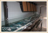 Ys-Fv390h 3.9m 3 Windows-Zwischenlage-Panel-Lebesmittelanschaffung-Schlussteile Tuk Tuk für Verkauf