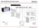 Привод цилиндра Pneumactic серии Cra1 роторный