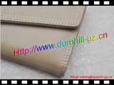 Trifold повелительница Бумажник PU кожаный длинняя (бежевый)