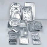 70 미크론 라운드 식품 학년을위한 알루미늄 호일 컨테이너를 멀리 가져