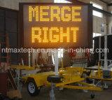 Aviso de tráfego portátil Mensagem Sinal de trânsito Sistema elétrico de elevação hidráulica Fácil Operar