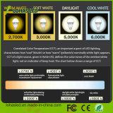 Bulbo claro do diodo emissor de luz de Dimmable do poder superior do diodo emissor de luz da carcaça plástica de alumínio