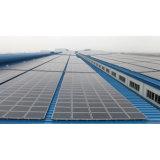 سقف مسطّحة يعلو [هوم سستم] شمسيّ مع [تثف] لأنّ إستعمال سكنيّة