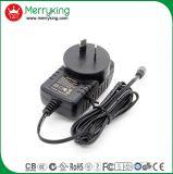 O tipo de Merryking Parede-Monta o adaptador da potência do plugue AC/DC do Au do adaptador de 12V 1A