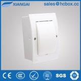 Caixa do Interruptor da Caixa de Distribuição de plástico MCB tampa branca caixa Hc-Tfw 3maneiras