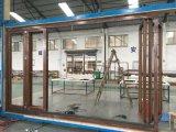 Precios plegables Bifold exteriores de las puertas del patio de la puerta/del aluminio del aluminio