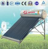 calefator de água da energia solar de aço 15tubes inoxidável