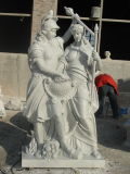 Estátua animal do caráter da escultura da pedra cinzenta do granito e cinzeladura para o pátio