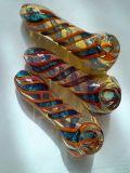 Mão de vidro do Wigwag - tubulação feita 4inch