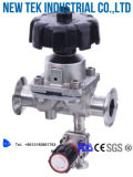 Válvulas de diafragma higiénicas del L-Modelo de Triclamp del acero inoxidable de Bpe