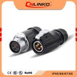Cnlinko 20mm 입 발광 다이오드 표시를 위한 정격 20arms 케이블 연결관 4 Pin 철사 남여 IP65/IP67 수중 연결관