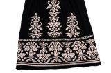 Лето черных женщин платья вышивает юбке расчалок