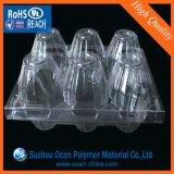 Vácuo que dá forma a folhas transparentes do PVC 0.4mm para fazer a bandeja do ovo