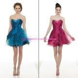 2011 mini vestito senza bretelle da ritorno a casa/vestito da promenade/vestito da partito (PD-9099)