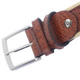 Cinghia degli uomini di marca dell'Italia dell'esportazione della cinghia di tela di canapa del cuoio genuino (SR-13027)