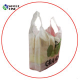 Impresos personalizados ecológica reutilizable Bolsa de compras de poliéster plegado