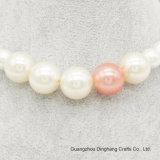 Juwelen 6mm/8mm/12mm/18mm van de manier namen/de Witte ImitatieJuwelen van de Halsband van de Ketting van de Parels van de Parel toe