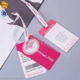 Sinicline nova chegada de etiquetas e rótulos de giro coloridos para roupa interior