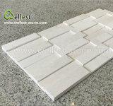 3D/beige blanc pour les longs en pierre calcaire Ledge décoration murale