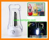 Linterna de energía solar portátil con el cargador