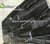 3D en bois noir poli Ledgestone de marbre pour les longs revêtement mural