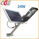 Indicatore luminoso di via esterno di uso LED Solor di energia solare di alta luminosità LED di Cge 24With30With40W