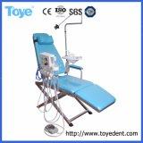 Hospital barato usado cadeira do paciente odontológico dobrável portátil com lanterna