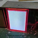Casella chiara dell'interno sottile acrilica d'attaccatura di pubblicità di media del cristallo LED
