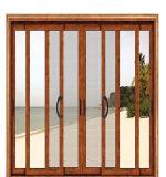 Profil de porte en aluminium portes coulissantes en verre trempé