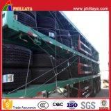 Semi Vrachtwagens van 2/3 Container van Assen Flatbed/Aanhangwagen