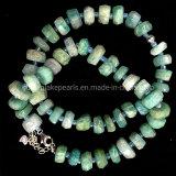 Gemstone Beads chinois avec rondelles à facettes Bracelets Amazonite 925 Sterling Silver