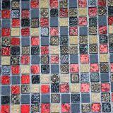 Azulejos de color de acero, baldosas de cerámica Rose color, color oro de cristal del mosaico del azulejo
