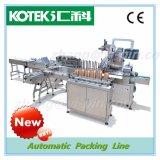 Linha de embalagem material automática máquina do acondicionamento de alimentos com a máquina de empacotamento da caixa