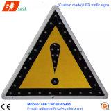 Señales de advertencia de la energía solar LED Triangles Street Signs