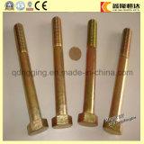 Bullone e noce Hex placcati zinco giallo DIN933/DIN931/DIN934