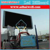 P16 Digital LED impermeable Viedo Estructura de acero en vallas de publicidad