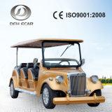 電気燃料8のつけられていたゴルフカート