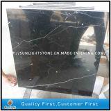 Telhas de revestimento de mármore pretas baratas do assoalho/banheiro de China Marquina