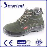 Suede Leather Safety Ботинки работы безопасности ботинок