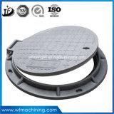 OEM En124 연성이 있는 철 맨홀 뚜껑 둥근 하수구 맨홀 또는 잠그기 하수구 또는 둥근 또는 하수구 또는 덮개